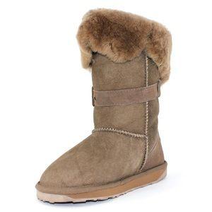 Mushroom Emu Sheepskin Boots